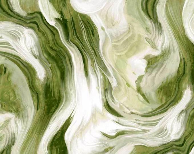 "Fluidity Green Flui 4138 g P&B Textiles 100% cotton 44/45"" wide fabric"