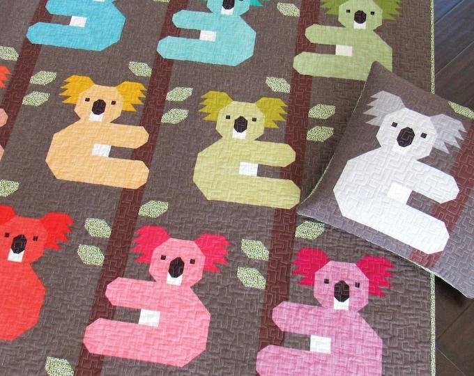 Elizabeth Hartman Koalas Quilt & Pillow Pattern Only