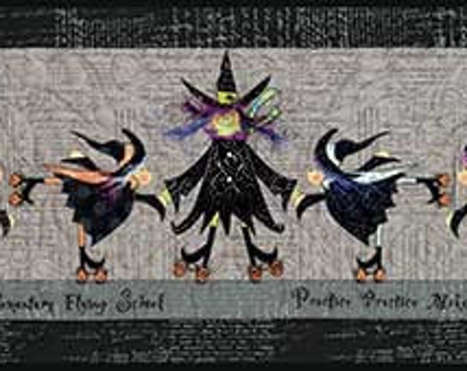 Flying School Skating Witches Pattern and Embellishment Kit from Happy Hallow Designs