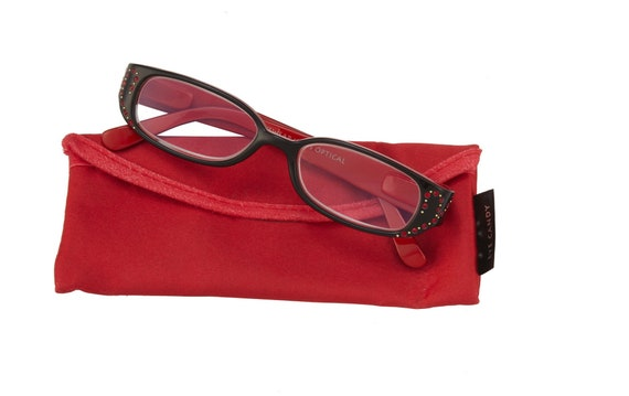 Jules Reading Glasses Red Magnifier, Reader +1.50 I Heart Eyewear