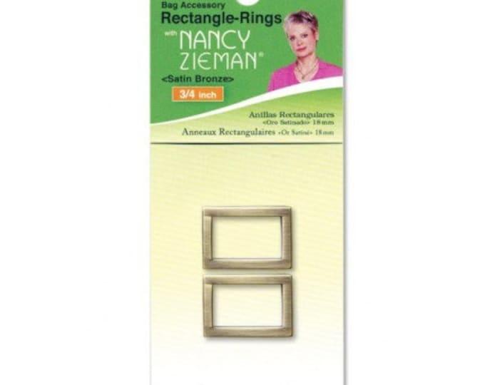 3/4″ Retangle-Rings – Satin Bronze Clover 2pk