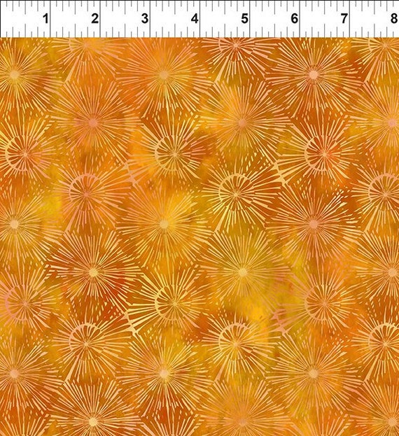 Urban Jungle Burst Gold Yenter In The Beginning Fabrics Digital 44-inch Wide Cotton Fabric Yardage 100% cotton