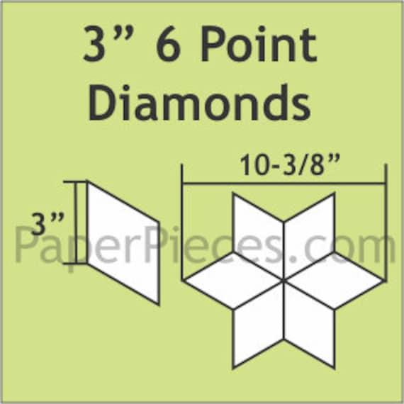 """Paper Pieces 3"""" 6 Point Diamond 50 Pieces 6DIA300"""