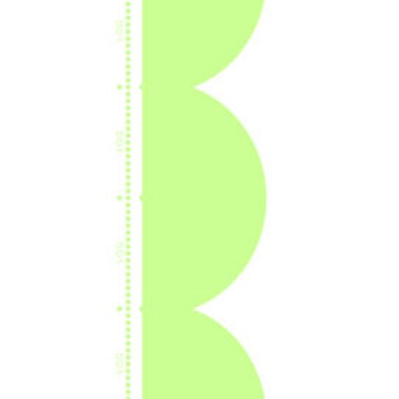 """Lakehouse - Sunrise Studio  Green Scallop Border 100% cotton 44/45"""" wide fabric"""
