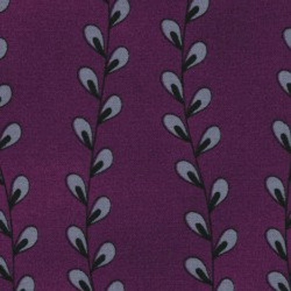 "Ink Blossom II Purple Willow Stripe 2465-2 RJR Fabrics 100% cotton 44/45"" wide fabric"