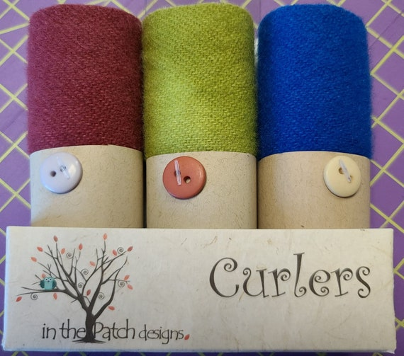 Curlers 3 piece Bundle In The Patch Designs Vineyard 100% Wool