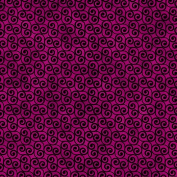 """Geo FLow Purple Scroll Blank Quilting 100% cotton 44/45"""" wide fabric"""