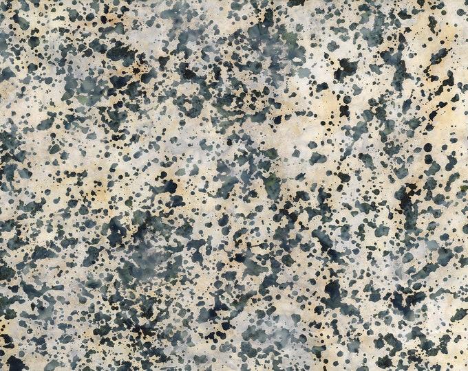 "Coconut Stick Splatter Light Gray Batik from Wilmington Prints #900 100% cotton 44/45"" wide fabric"