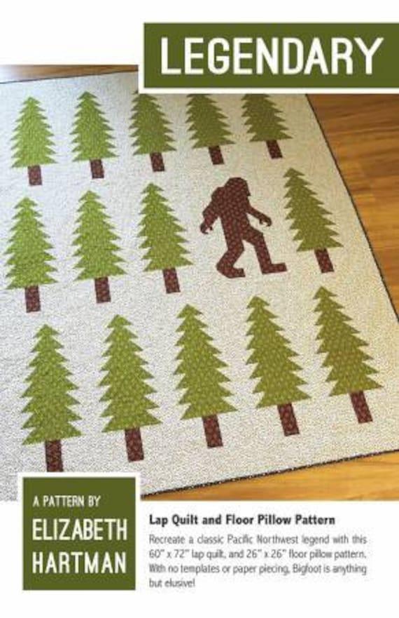 Elizabeth Hartman Legendary Quilt Pattern Only Bigfoot