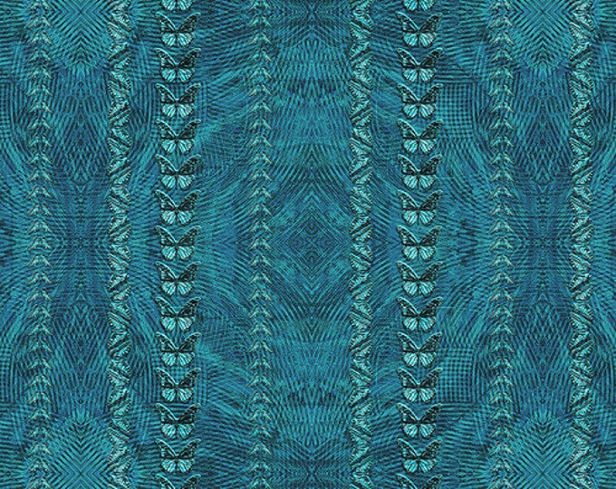 "Crypsis Cerulean - Stephen Wilson for Anita Goodesign 100% cotton 44/45"" wide fabric"