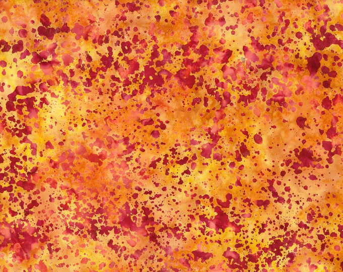 "Coconut Stick Splatter Yellow Batik from Wilmington Prints #588   100% cotton 44/45"" wide fabric"