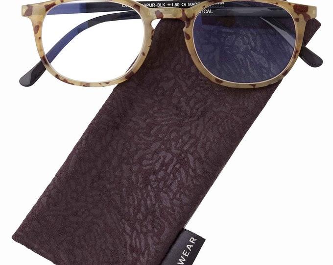 Larkspur Black Reading Glasses Magnifier, Reader +1.75 I Heart Eyewear