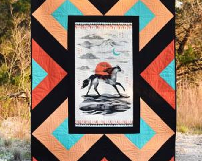Red River by Running Doe Quilts Postcard Panel Pattern 56x74 PATTERN ONLY