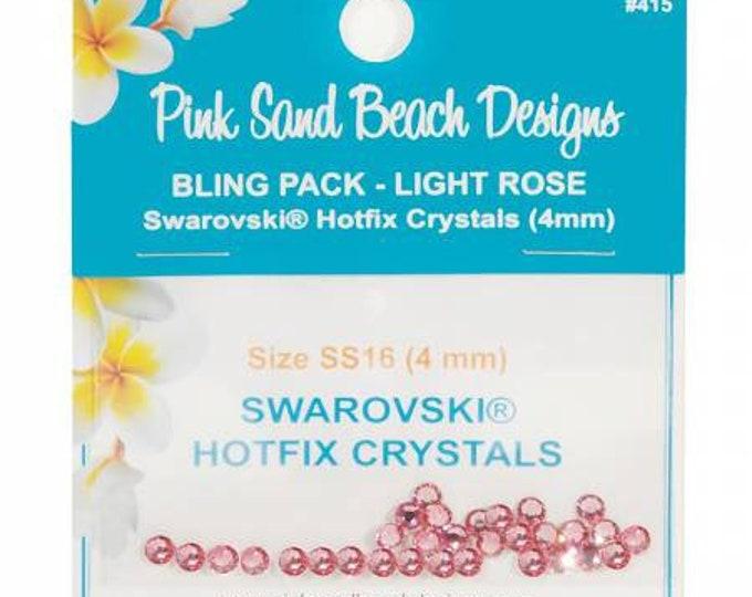 Swarovski Hotfix Crystals 4mm Pink Sand Beach Bling Pack Light Rose 30ct