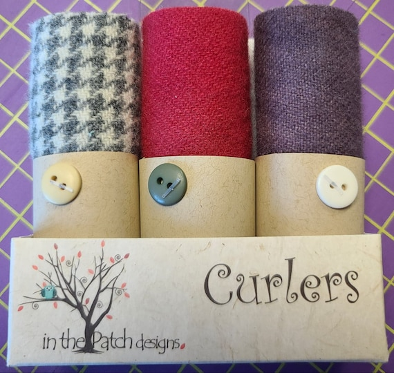 Curlers 3 piece Bundle In The Patch Designs Valentines 100% Wool