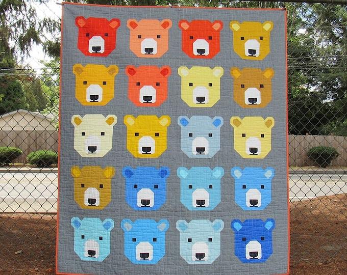 Elizabeth Hartman Bjorn Bear Quilt & Pillow Pattern Only