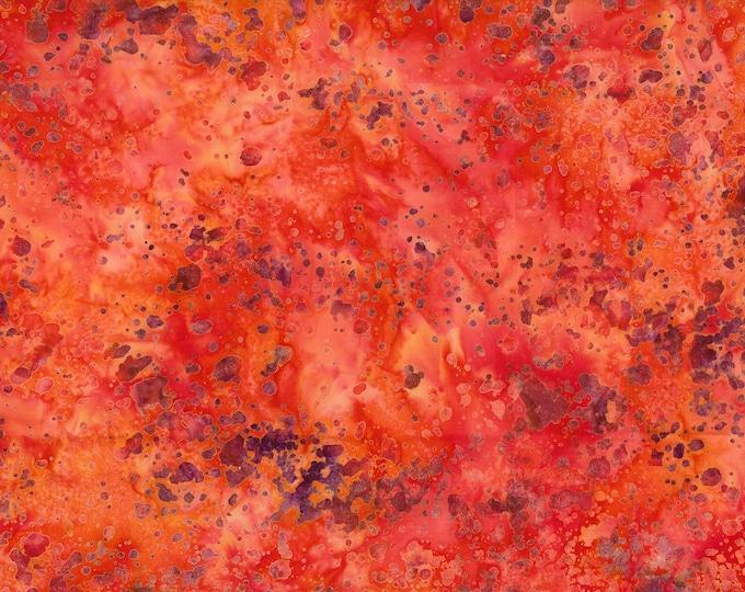 "Coconut Stick Splatter Orange Batik from Wilmington Prints #885 100% cotton 44/45"" wide fabric"