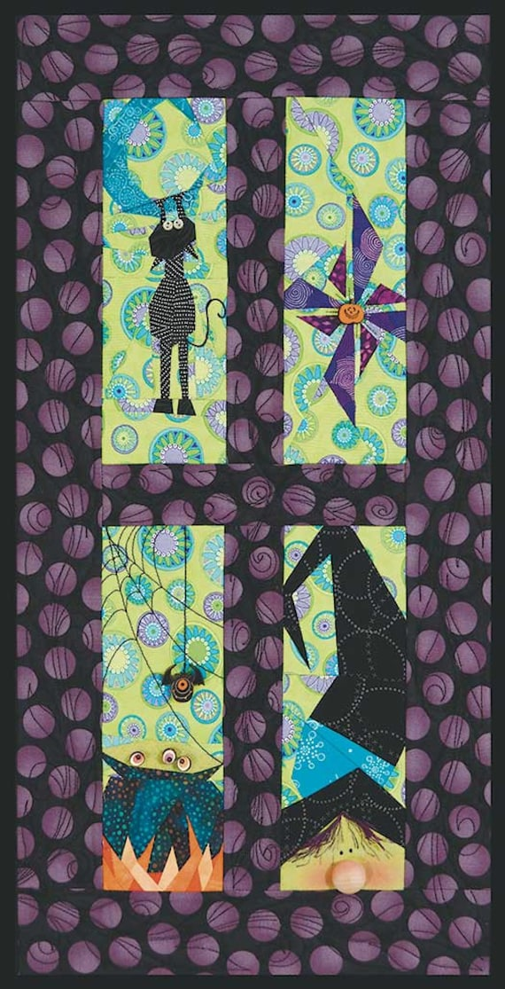 """Blue Moon Witch Stitch By Number Fabric Project For Beginners! 12"""" x 25"""""""