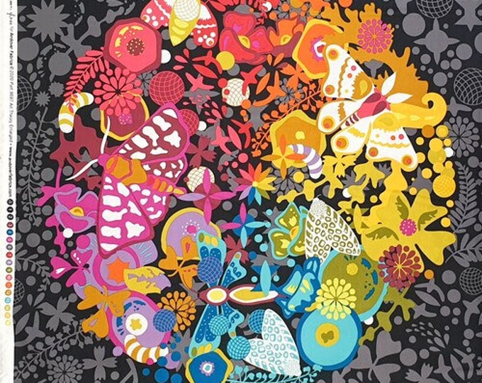"""Art Theory by Alison Glass for Andover Fabrics 24"""" Panel Grand Circle-Night A-9697-C Panel 100% cotton (#3)"""