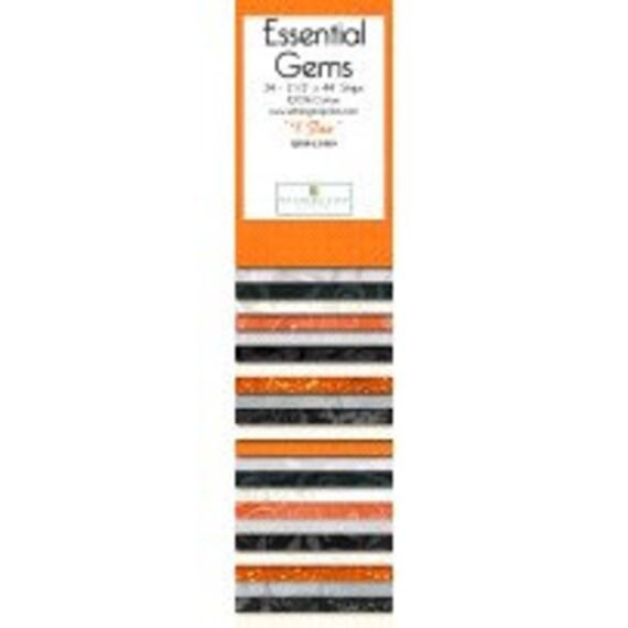 Wilmington Prints - #1 Fan Essential Gems  Black, grey, white & black 100% cotton