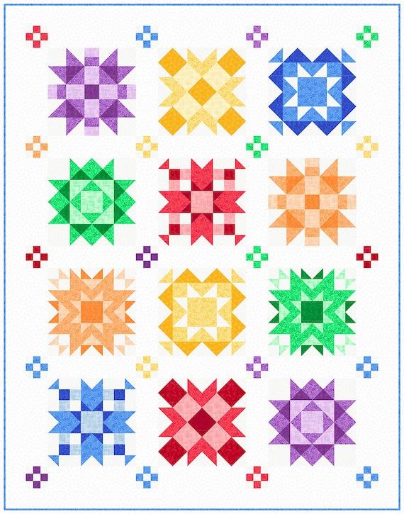 QT Fabrics -  Allegro Kit -  featuring Harmony Brights 100% cotton