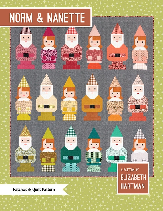 Elizabeth Hartman Norm & Nanette Patchwork Quilt Pattern Only