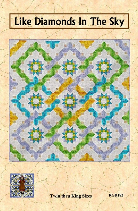 Like Diamonds in The Sky - Multiple Sizes - by Raggedy Ruth Designs Pattern Only