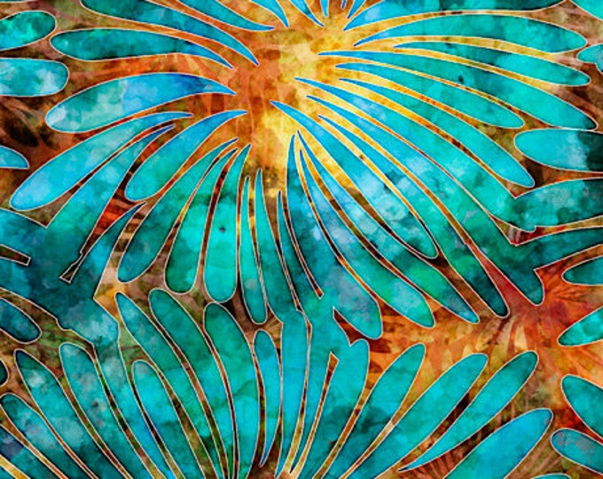 "Tropicalia Large Floral by Dan Morris for QT Fabrics 28188OQ  100% cotton 44/45"" wide fabric"