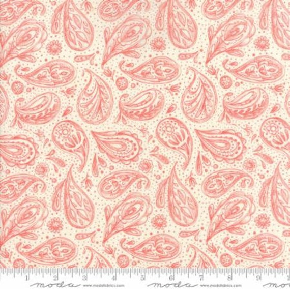 "Dear Mum Floral Paisley Petal by Robin Pickens 44"" wide 100% Cotton Fabric"