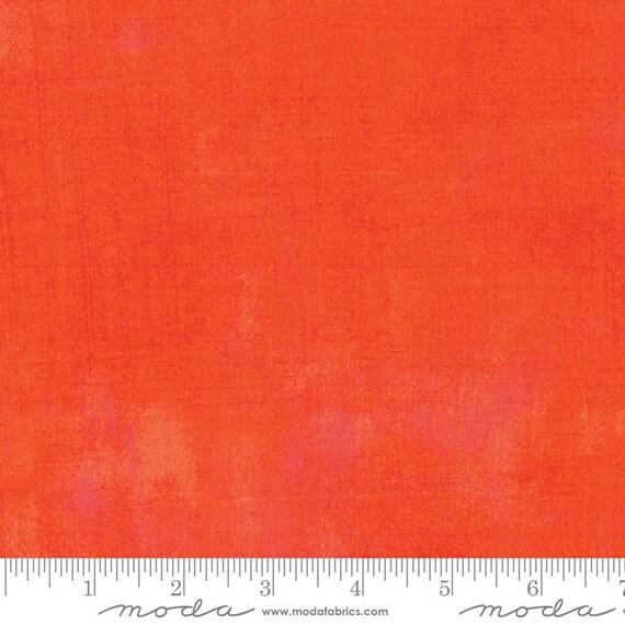 Moda Basic Grey Grunge Tangerine  30150-263 44-inch Wide Cotton Fabric Yardage