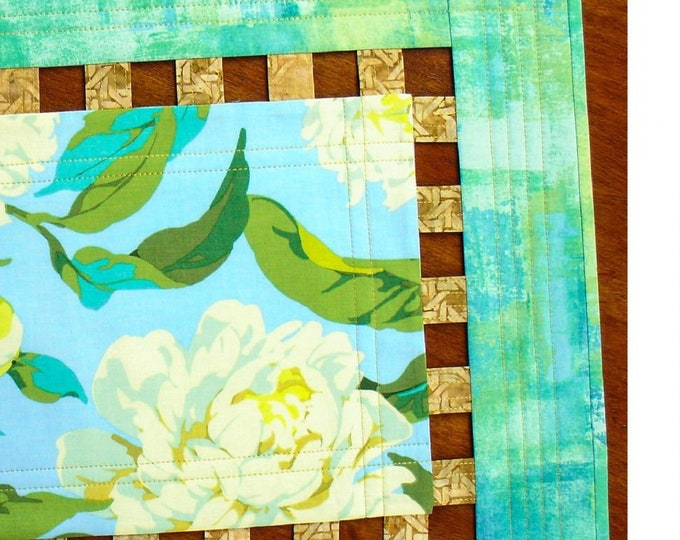 Goof-Proof Lattice Border Table Runner & Place Mats PATTERN ONLY Tiger Lily Press