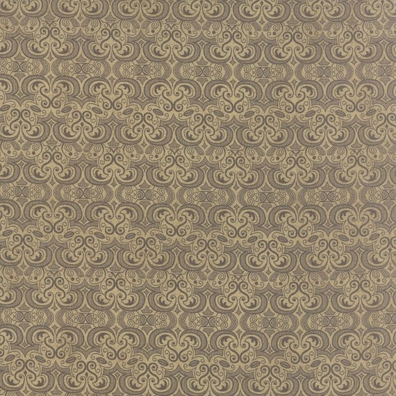 Black Tie Affair by Basic Grey 30425-14 Floral Vignette Tan Moda 100% Cotton Fabric