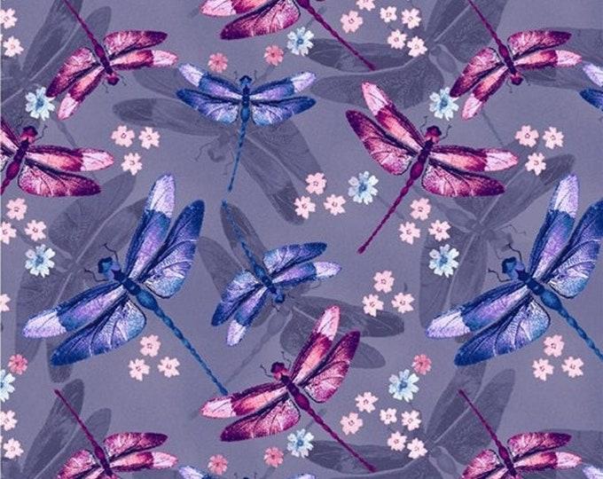 "Midnight Hydrangea Dragonfly  by Studio E  -5479-55  100% cotton 44/45"" wide fabric"