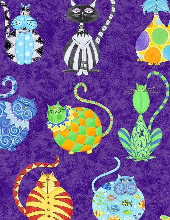 Catmosphere A/O by Wilmington Prints 30150-292 44-inch Wide Cotton Fabric Yardage 100% cotton