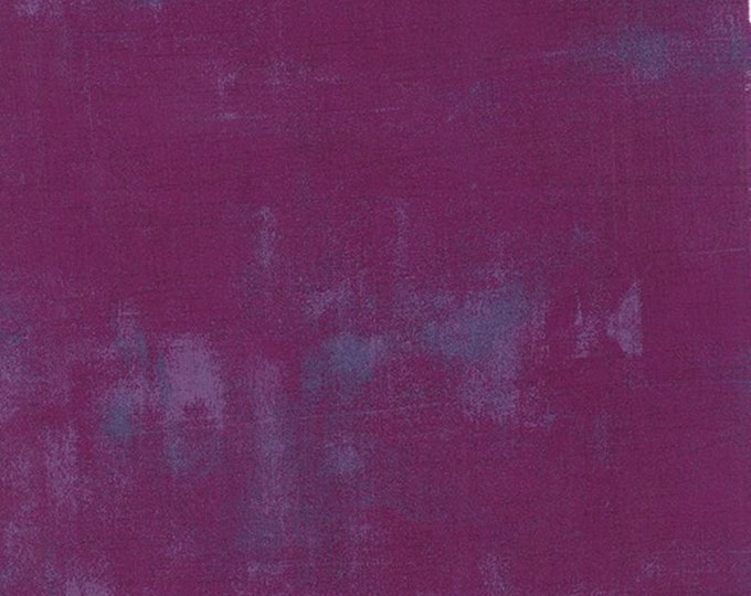 Moda Basic Grey Grunge  Plum 30150-243 44-inch Wide Cotton Fabric Yardage
