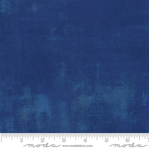 Moda Basic Grey Grunge Colbalt 30150-223 44-inch Wide Cotton Fabric Yardage