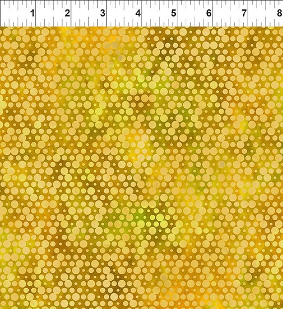 Urban Jungle Yellow Dot  Yenter In The Beginning Fabrics Digital 44-inch Wide Cotton Fabric Yardage 100% cotton