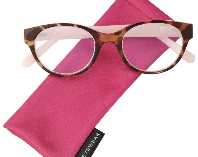Shelby Pink Reading Glasses Magnifier, Reader +2.00 I Heart Eyewear