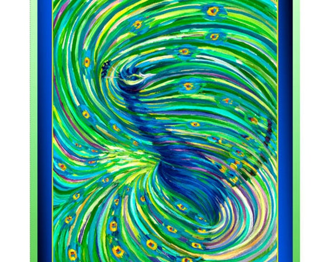 "Ombre Peacock 36"" Panel by Victoria Watkins - QT Fabrics 100% Cotton (#32)"