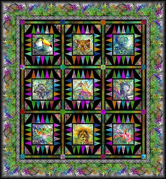 Safari Quilt by Jason Yenter Pattern Only