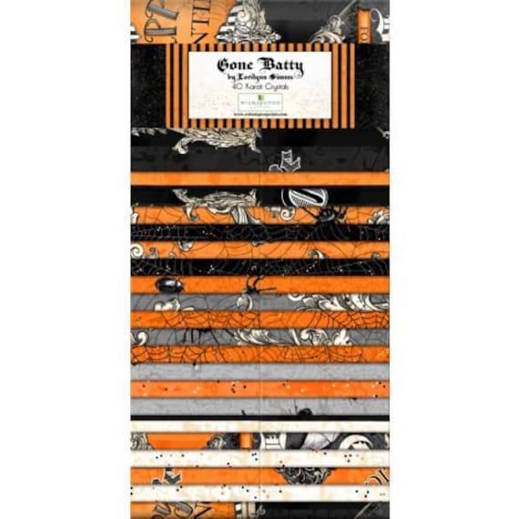 "Gone Batty By Wilmington Prints  - 40  2.5"" strips 100% cotton"