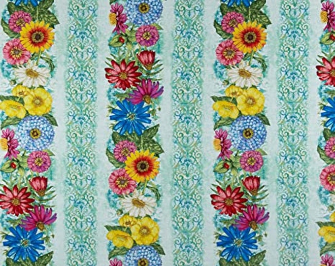 """Wilmington Prints Blossom & Bloom 100% cotton 44/45"""" wide fabric"""