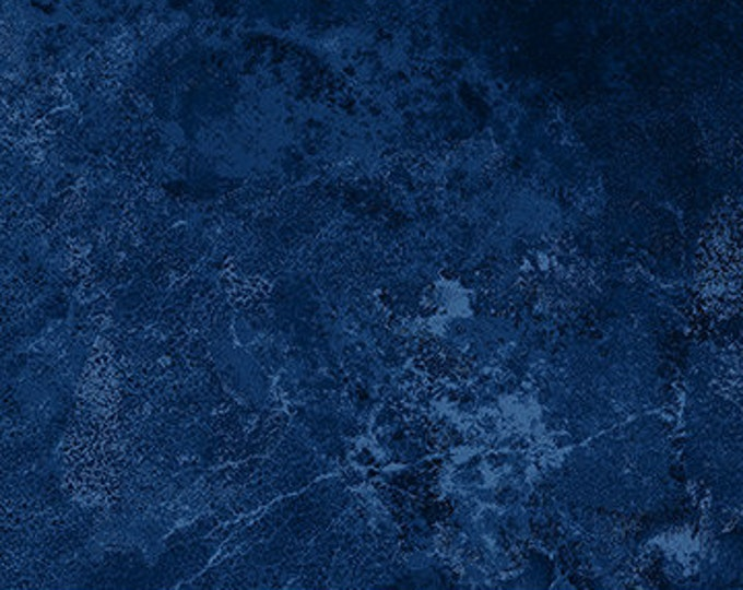 "Stonehenge Blue Flannel Backing Northcott Fabrics 3937-49 Wide Back 108"" - 100% Cotton"