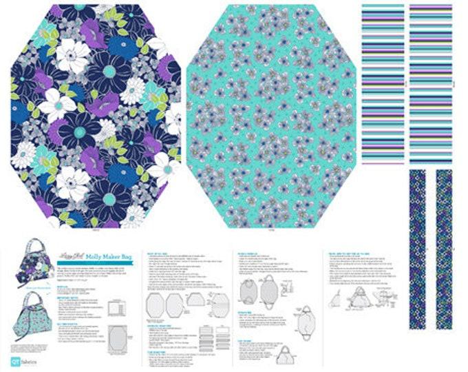 QT Fabrics Lexi Molly Maker Bag Panel Navy 100% Cotton