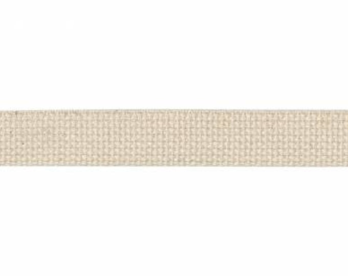 """Natural 1"""" Cotton Webbing By The Yard"""