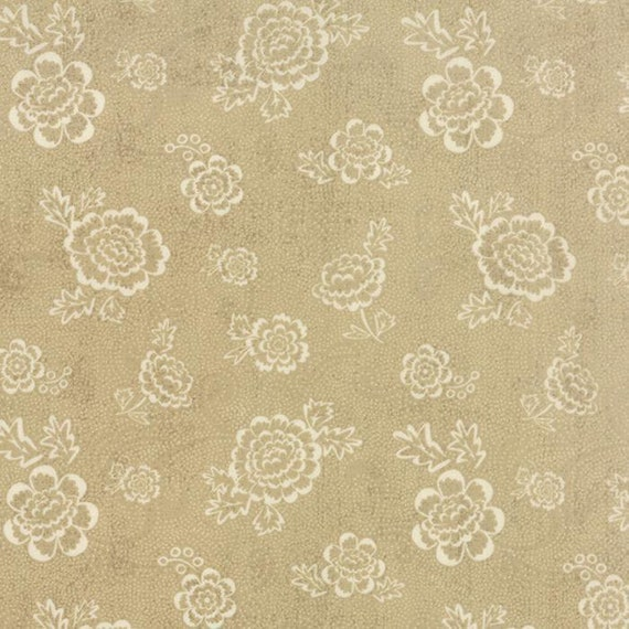 Black Tie Affair by Basic Grey 30424-13 Floral Whimsy Floral Tan  Moda 100% Cotton Fabric