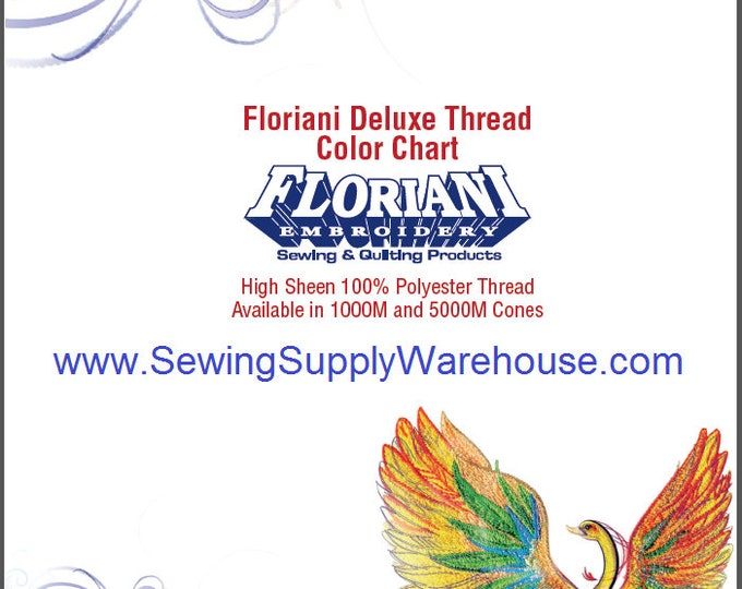 Floriani Deluxe Thread Color Chart High Sheen 100% Polyester Threads