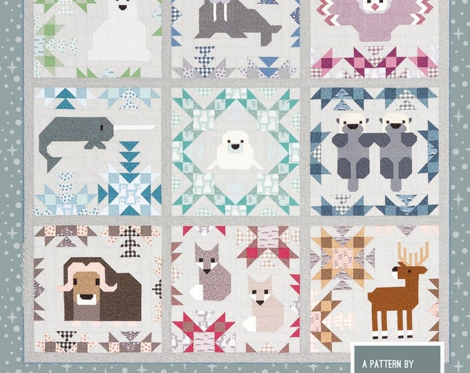 Elizabeth Hartman's North Stars Mix and Match Animal Sampler Pattern Only EH-043