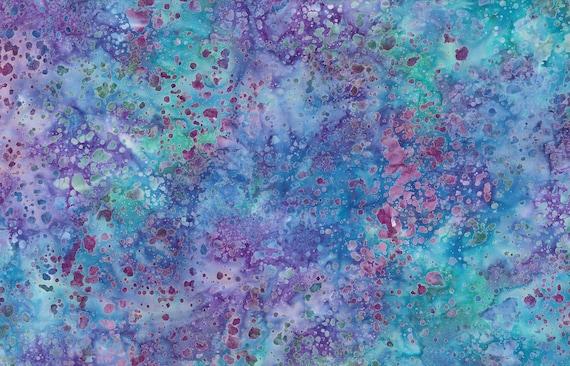 "Coconut Stick Splatter Purple/Blue Batik from Wilmington Prints #664 100% cotton 44/45"" wide fabric"
