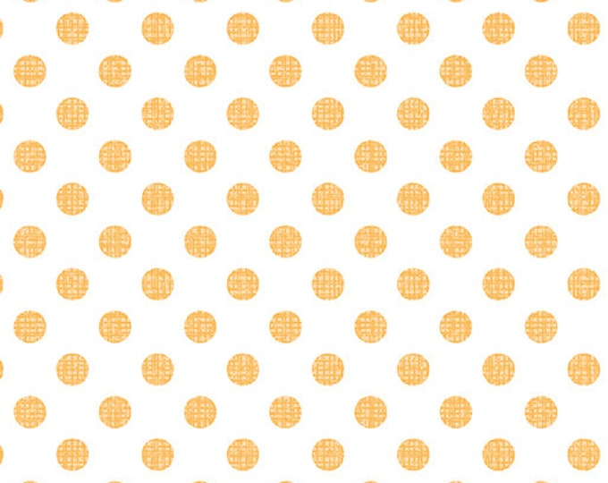 "Contempo Owls & Pals Dot Weave Mango 1457-28 - 100% Cotton 44/45"" wide fabric"